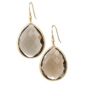 :: Stella & Dot Serenity Drop Earrings Espresso